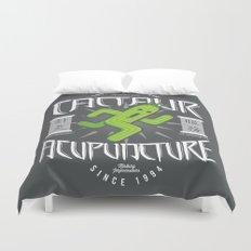 Cactaur Acupuncture Duvet Cover