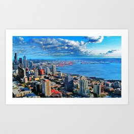 Seattle Skyline from The Space Needle Art Print