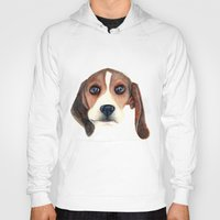 beagle Hoodies featuring Beagle by Carmen Lai Graphics