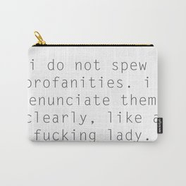 FUCKING LADY Carry-All Pouch