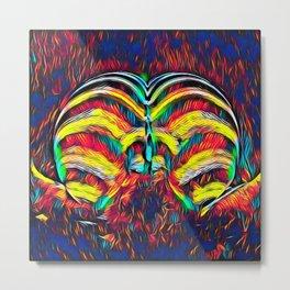 1349s-MAK Abstract Pop Color Erotica Explicit Psychedelic Yoni Buns Metal Print
