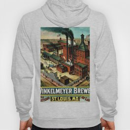 Vintage 1882 Julius Winkelmeyer Brewery St. Louis Lithograph Wall Art Advertisement Art Print Hoody