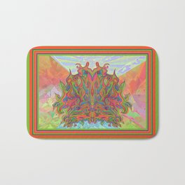 AlChemical - with landscaped background inc birds Bath Mat