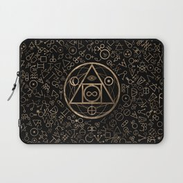 Philosopher's stone symbol and Alchemical  pattern #2 Laptop Sleeve