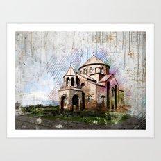 Saint Hripsime Church Art Print