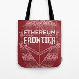 Ethereum Frontier (dark red) Tote Bag
