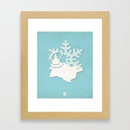 POKÉMON Ice Framed Art Print