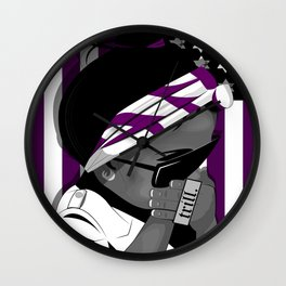 Everything is Purple Wall Clock