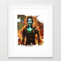 dead space Framed Art Prints featuring dead space by ururuty