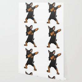 Funny Miniature Pinscher Dabbing Wallpaper