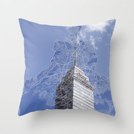 Mexico City Throw Pillow