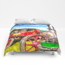 Traction Engine And Steam Lorry Art Comforters