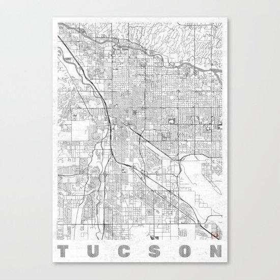 Tucson Map Line Canvas Print