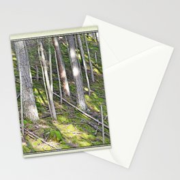 A MOSSY STEEP DEEP FOREST SLOPE Stationery Cards