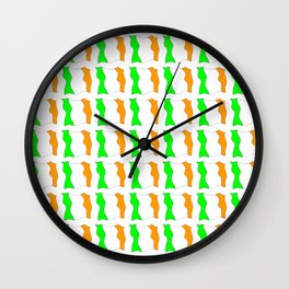 flag of ireland-ireland,eire,airlann,irish,gaelic,eriu,celtic,dublin,belfast,joyce,beckett Wall Clock