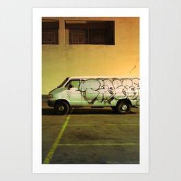 Graffiti of the White Van - Los Angeles #82 Art Print