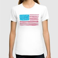 american flag T-shirts featuring American Flag by Caleb Boyles