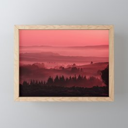 My road, my way. Red. Framed Mini Art Print