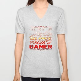 In love with a Gamer Unisex V-Neck