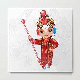Beijing Opera Character YangPaiFeng Metal Print