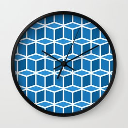 Blue Boxes Wall Clock