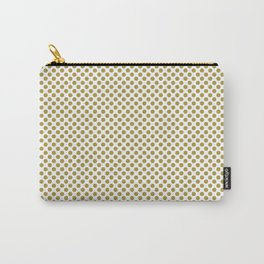 Golden Olive Polka Dots Carry-All Pouch