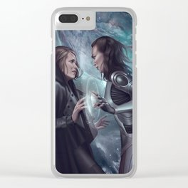 Stranded Planets Clear iPhone Case
