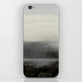 The ocean behind the wall iPhone Skin