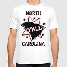 North Carolina State Pride Y'all Mens Fitted Tee White SMALL