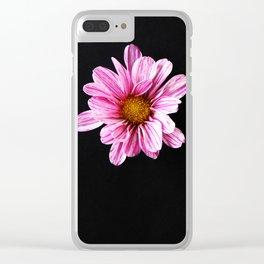 Chrysanthemum Flower Clear iPhone Case