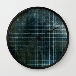 Weathered Grid Wall Clock