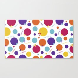 Dotted in the 80s Canvas Print
