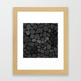 Stone wall 1 Framed Art Print