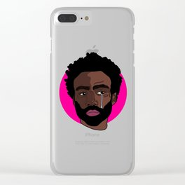 Sad Donald Glover Clear iPhone Case