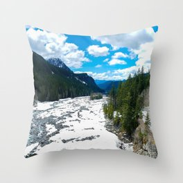 Nisqually River Throw Pillow