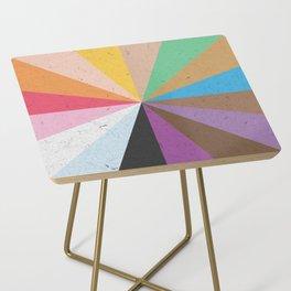 Rainbow Wheel of Inclusivity Side Table