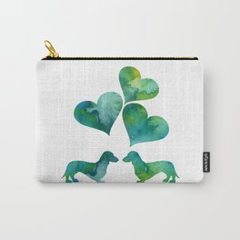 Dachshunds Art Carry-All Pouch