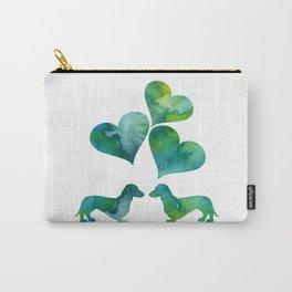 Dachshunds Art Carry-All Pouch