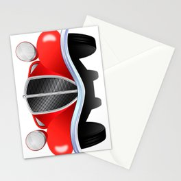 Old vintage model of the car Stationery Cards