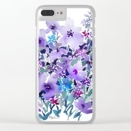 Lavender Thicket Clear iPhone Case