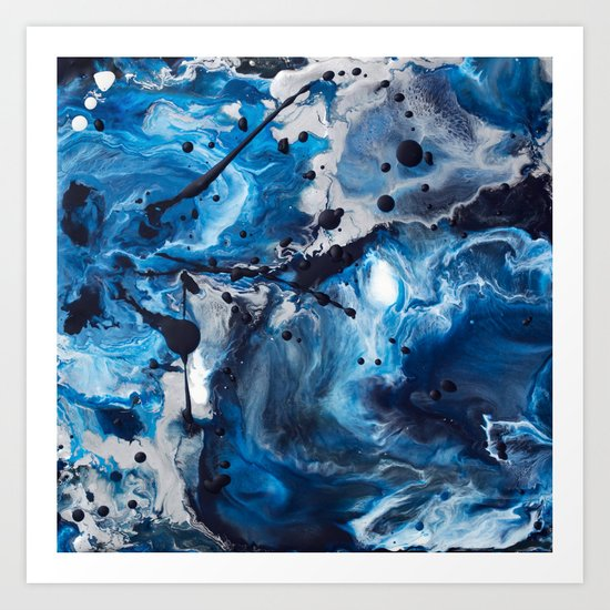 Color Commentary #12: Blue & Silver [Debi Vaught-Thelin] Art Print