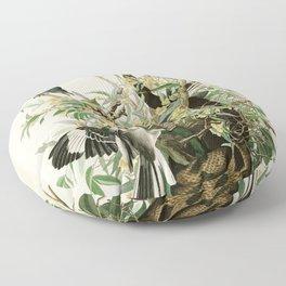 Mocking Bird - John James Audubon's Birds of America Print Floor Pillow