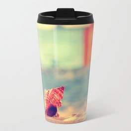A summer at the beach Travel Mug