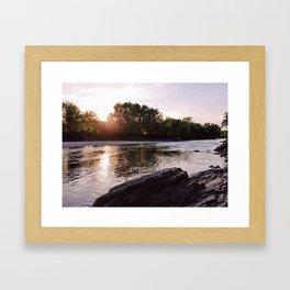 River at Sunset Framed Art Print