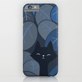 Fox & Cat in the night jungle safari 065_03_06 iPhone Case