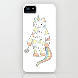 Stay Weird! With Love From Unicorn Cat iPhone Case