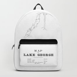1853 Map of Lake George Backpack