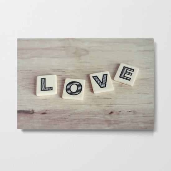 letter love Metal Print