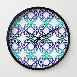 Abstract gradient circles geometric pattern. Wall Clock