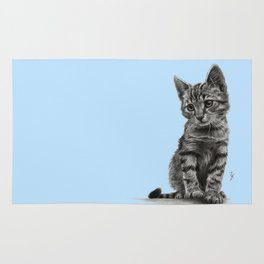 Kitty - PENCIL DRAWING Rug